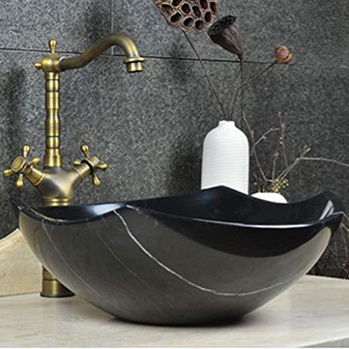 Nordic vintage marmeren bekken kunst steen countertop wastafel bad wastafel kom schip zinken wastafel