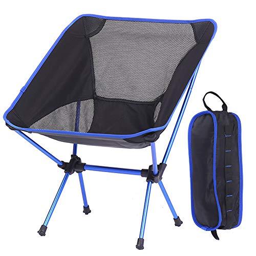 JHKJ Silla Plegable Portátil Ultraligera, con Bolsa de Transporte Compacta para Camping, Senderismo, Mochilero, Playa, Eventos Deportivos Y Festivales