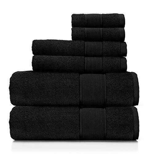 Ralph Lauren Sanders Handtuch-Set, 6-teilig, Schwarz, 2 Badetücher, 2 Waschlappen
