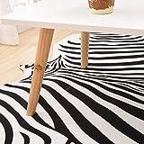 Teppiche Matten Teppiche Zebra Kuhfell Teppich Die gesamte Nordic American Tier schwarz und weiß Teppich Wohnzimmer Schlafzimmer Bett kleine kreisförmige dünne Bodenmatte ( Size : 200cm(78.7 inches) ) - 7