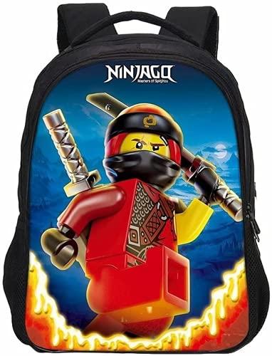 Ninjago Rucksack, Leichter Freizeitrucksack, Anime Cosplay Kinderrucksack, Geeignet Für Jungen Und Mädchen (L5,13 Zoll (Kindergarten))
