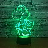 3D Nachtlicht Yoshi Mario 3D Led Lampe Cartoon Game Figure Super Acryl Neuheit Weihnachtsbeleuchtung...