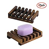 The Flash Store Bathroom Accessories Handmade Natural Wood Soap Dish Wooden Soap Holder, Rectangular, Hand...