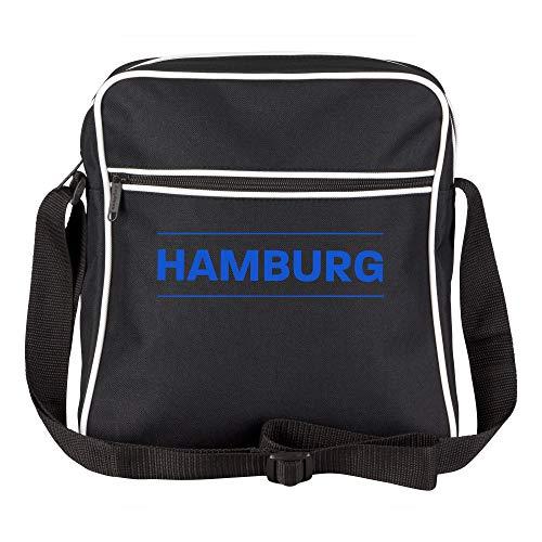 Schultertasche Hamburg Schriftzug schwarz - Hamburg Hamburger Fußball Tasche Fanartikel