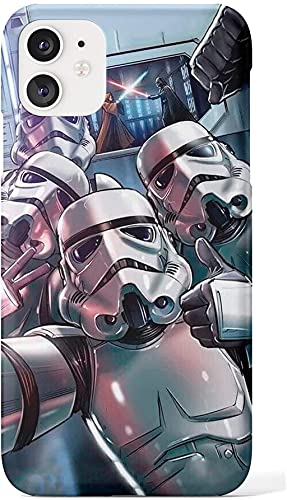 Star Wars Stormtrooper Selfie case Compatible with iPhone 12 Pro Max Mini 11 XR Samsung Galaxy s20 Plus Note Ultra Google Pixel 3 3a XL 4 SN (iPhone 12/12 Pro)