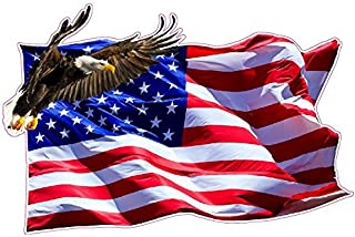 American Flag Soaring Eagle Version 2 XX Large Decal 36