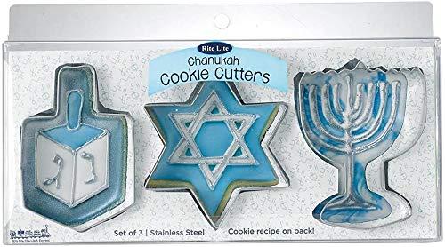 Rite Lite LTD Chanukah Cookie Cutters, 3 CT, silver metal