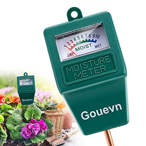 Gouevn Soil Moisture Meter, Plant Moisture Meter Indoor & Outdoor, Hygrometer Moisture Sensor Soil Test Kit Plant Water Meter for Garden, Farm, Lawn (No Battery Needed)