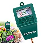 """Gouevn Soil Moisture Meter, Plant Moisture Meter Indoor & Outdoor, Hygrometer Moisture Sensor Soil Test Kit Plant Water… 8 🌼 SIMPLE and EFFECTIVE: Gouevn Soil moisture meter only for testing soil moisture, basic model works stably. Plug and read, responds quickly and provides easily readout. Large dial, ten scales. Includes watering guide for 200 plants printed on the back of the packaging. 🌼 INDOOR & OUTDOOR USE: A super helpful tool for your garden, Yard, lawn, Farm, potted plants etc. Especially is important for some delicate plants which are very sensitive to over or under watering. 🌼 LONG PROBE SENSOR: 7.7"""" probe length specifically designed for measure water at the root level, For use on any plant, even it is big potted plants."""