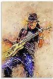 HuGuan Leinwand Druck Poster Öl Carlos Santana für