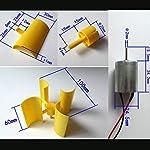 SYWAN 360°Micro Wind Generator Vertical Turbines Blades Mini Motor for DIY 12