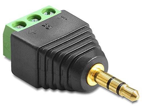 DeLock Adapter Terminalblock > Klinke 3, 5mm Stecker 3 Pin