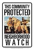 Aquarius Texas Chainsaw Massacre Sawyers Neighborhood Watch Tin Sign