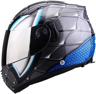 Spider-Man Iron Man protettivo Gear bambino adulto casco completo moto Caschi con due lenti Suanproof Racing tappi di sicurezza stagioni universale