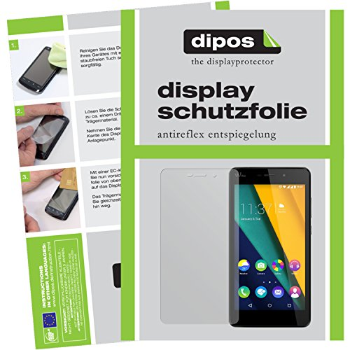 dipos I 2X Schutzfolie matt kompatibel mit Wiko Pulp FAB 4G Folie Bildschirmschutzfolie