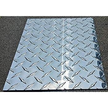 Amazon Com Aluminum Diamond Plate Sheets 025 Thin 4x10 Bright Polished Industrial Scientific