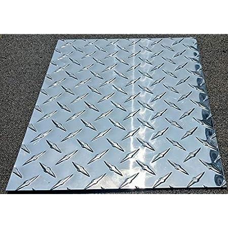 "4 pcs .025 Diamond Plate Sheet 12/"" x 120/"" Polished Aluminum"