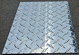 "- BRIGHT FINISH 4 4FT Aluminum Diamond Plate Corner Guard 2/"" x 2/"" wing"