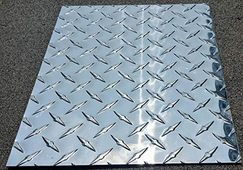 Diamond Tread Plate Aluminum .045 24' x 48' 3003 18 Gauge Chrome Polish