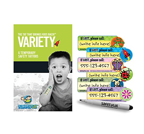 Quick Stick Write-on! Child ID Tattoos (Variety 6pk.)