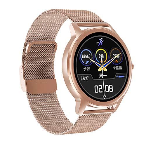 FMSBSC Reloj Inteligente Smartwatch con Pulsómetros, Monitor De Sueño, Presión Arterial, Monitor De Oxigeno(Spo2), Reloj Inteligente A Prueba De Agua IP67 para Hombres, Mujeres para Android iOS,Oro