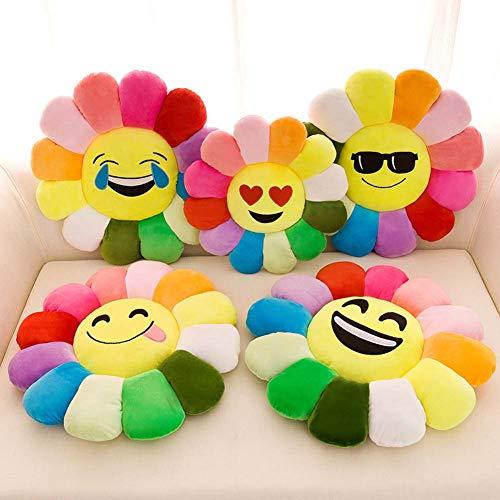 Homieco Sonnenblume Ausgestopft Plüsch Spielzeug Puppe Weich Werfen Kissen zum Sofa, Couch, Auto, 12inch/Kiss