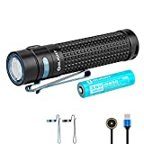 Olight S2R II 1150 Lumens Magnetic Rechargeable Variable Output Side Switch LED Flashlight,with 18650 Battery and SKYBEN Battery Case
