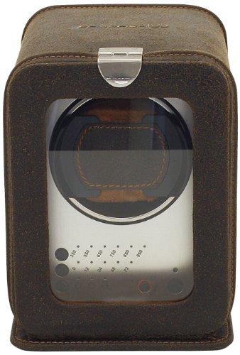 FriedrichI23, Echtleder Uhrenbeweger für Automatikuhr, 3 Programmsegmente, Cubano, Braun, 29450-3