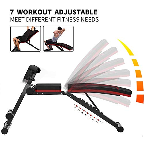 HOLATO Adjustable Weight Bench for Full Body Workout ,Foldable Workout Bench Home Gym Weightlifting and Strength Training,Multi-Purpose Sit up Bench Portable Exercise Bench