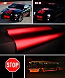 VViViD Reflective Gloss Red Vinyl Car Wrap Film DIY Roll Easy to Install No-Mess Decal (1/2ft x 48 Inch)