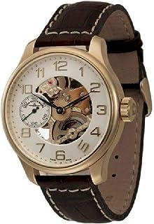 Zeno Watch Basel - Reloj para Hombre Analógico Meccanico con Brazalete de Cuero 8558-9S-Pgg-f2