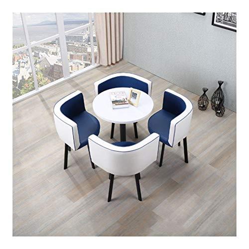 TXOZ-Q Vintage Verhandeln 5-teiliges Kaffee Sofa Sitz Moderne Runde Heim Tabelle Stuhl Einfache Rezeption Freizeit Leder Büro Lounge