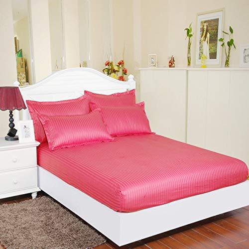 haiba Tex Standard - Sábana bajera ajustable (100% algodón, 120 x 200 + 25 cm), color rojo
