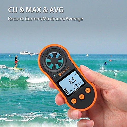 Neoteck Anemómetro Digital LCD Medidor de Velocidad del Viento Flujo de Aire...
