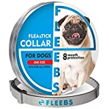 Fleebs Dog Collar for 8-Month Validity Period Adjustable with Essential Oils Natural Treatment and Prevention Collar for Dogs One Size Fits All