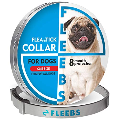 Fleebs Dog Collar for 8-Month Validity Period Adjustable with Essential Oils nаturаl Treatment and Prevention Collar for Dogs One Size Fits All