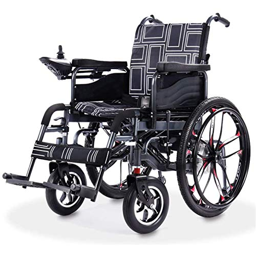 FFTUB Elektrischer Rollstuhlroller Klappbare Motorisierte Elektrorollstühle Faltbar Mobilitätshilfe Rollstuhl