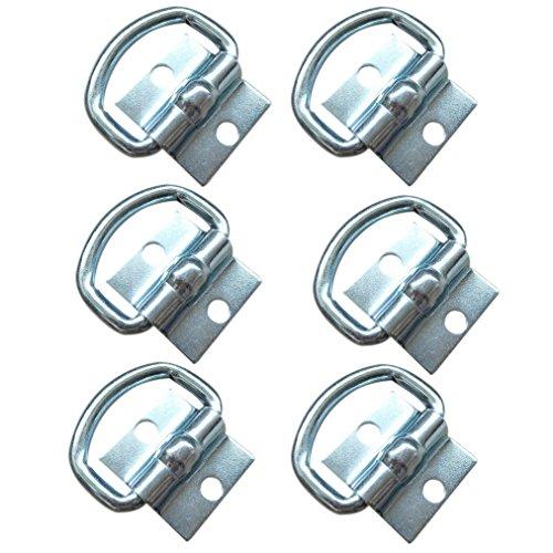 FREESOO Zurröse Aufbauring Ring, 6 Stück Aufbau Zurrösen Zurrmulde Verzurrösen für LKW Ladungssicherung PKW Anhänger