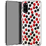 Lexary Case Compatible for Samsung Galaxy J8 J7 J6 Plus J5 J4 J3 J2 Pro J1 Gaming Dices Lightweight Soft Colorful and Red Slim fit Print Durable Fortune Clear Design Black Teen Silicone Smooth f515