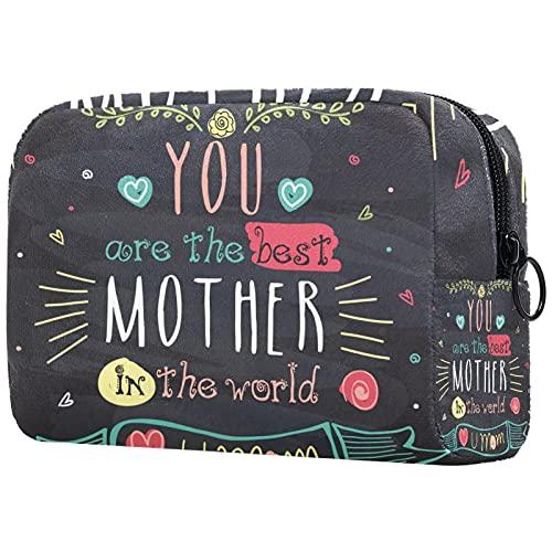 Borsa per cosmetici Borsa per il trucco Borsa da viaggio con pochette per cosmetici Borsa da toilette,sei la migliore madre