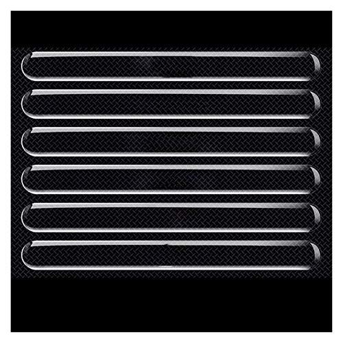 Shutters Cuenco de la Puerta del Coche Cuenco Protector de rasguño Invisible Etiquetas Transparentes Silicon Retroview Espejo Anti-Collision Protection Strip (Color : Protection Strip 6PC)