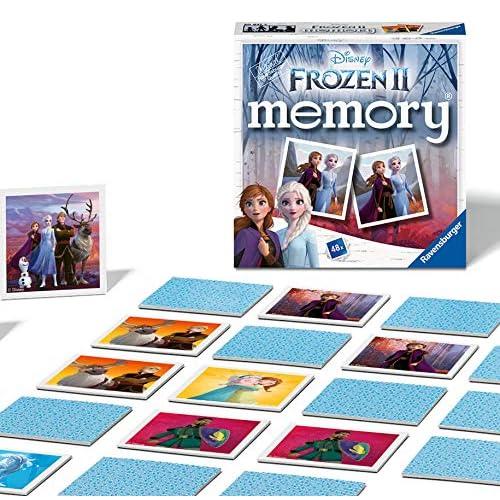 Ravensburger Italy - Disney Frozen 2 Memory in Formato Pocket, 15x15 cm, Gioco in Cartone, 24 Coppie in Cartone, 48 Carte, per Bambini a Partire da 4 Anni, da 2 a 8 Giocatori, 20437 3