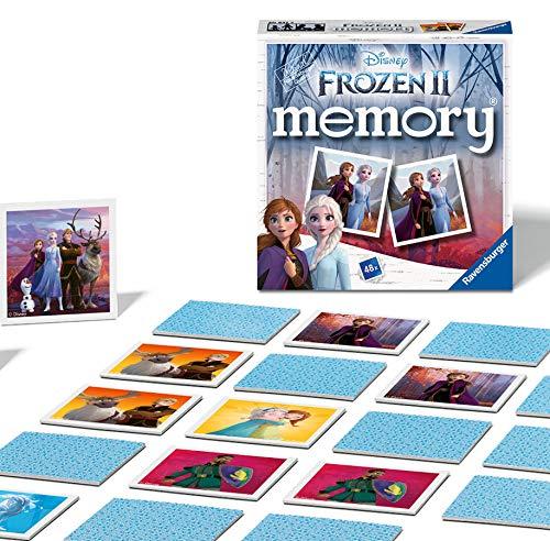 Ravensburger 20437 Disney Frozen 2 Mini Memory Kinder ab 3 Jahren Klassisches Bild Snap Matching Paare Spiel