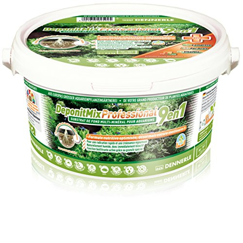 Dennerle deponit 9-in-1 Profesional Mezcla, Acuario sustrato Multi-Mineral Base 2,4 kg