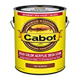 Cabot 140.0001880.007 Solid Color Decking Stain, Gallon, Redwood
