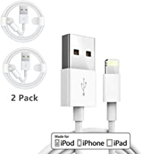 (2 Pack) Apple iPhone/iPad Charging/Charger Cord Lightning to USB Cable[Original Apple MFi Certified] Compatible iPhone X/8/7/6,iPad Pro/Air/Mini,iPod Touch(1M/3.3FT)