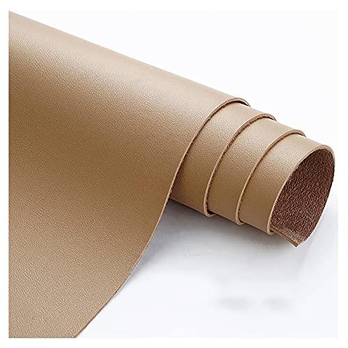 wangk reparador Cuero Polipiel para Tapizar Tapicería Material De Artesanía Venta de Polipiel por Metrospara reparación de sofás Costura Elaboración Proyectos de Bricolaje -Color Caqui 1.38x4m