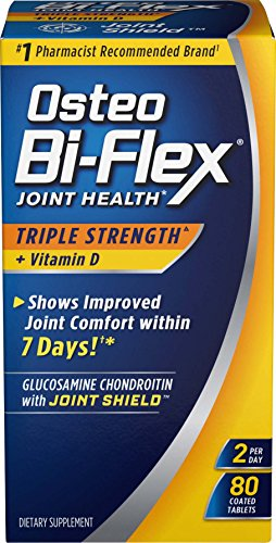 Osteo Bi-Flex Triple Strength + Vitamin D, Improved Joint Comfort*, 80 Coated Tablets