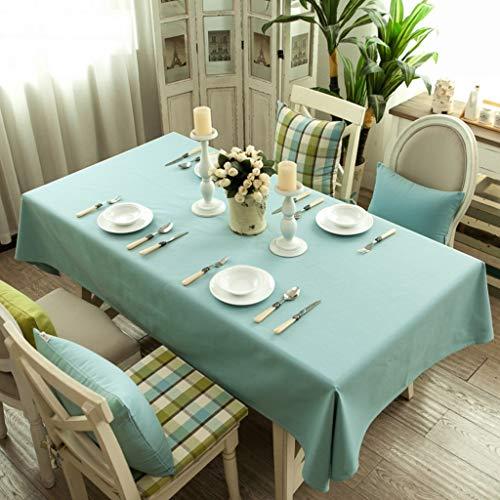 Couverture de table antipoussière rectangle de couleur unie méditerranéenne en tissu de nappe pour la cuisine, décoration de table, fêtes d'intérieur ou extérieures, utilisation quotidienne