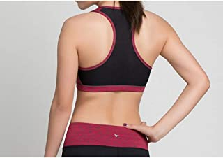 ZYDP Women's Sports Bra Yoga Work Out Bra Padded Running Crop-top (Color : Rose Red, Size : M)